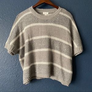 NWT Children's Place Sequined Short Sleeve Sweater
